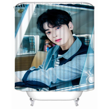 Shower Curtain Hooks Bathroom Cha Eunwoo Cartoon Polyester-Fabric Home-Decor Waterproof