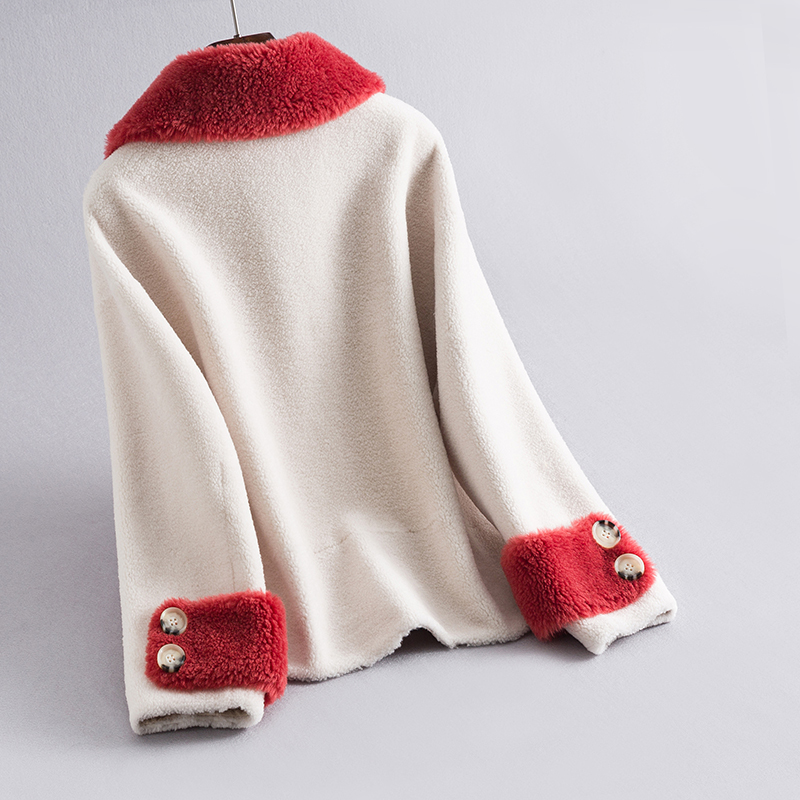 Fashion Winter Coat Women Clothes 2019 Korean Warm Sheep Shearing Jacket Female Real Wool Fur Coat Outerwear Hiver LJ2O2O