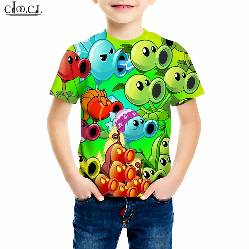 Plants Vs. Zombies Peashooter Printed T Shirts Boy Girl Children's Games Sweatshirt 3D Print Hoodies Baby Casual Shorts Suit