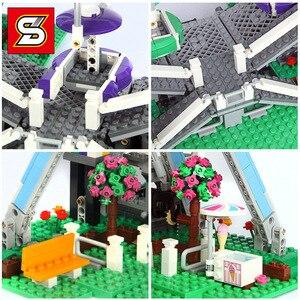 Image 3 - 모터 시티 관람차 창조주 streetview 모델 빌딩 블록 벽돌 장난감 선물 소녀 소년 적합 전문가 10247