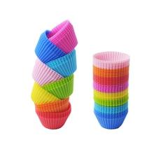 Красочные Формы для выпечки, формы для выпечки, круглая силиконовая форма для кексов