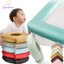 Protector de esquina de seguridad para bebés de 2M guarda para el borde del escritorio tira de protección segura para niños cinta de protección de esquina de los muebles protección angular