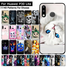New 2019 TPU Case For Huawei P30 Lite Ultra-thin Soft Silicone Bumper Cover Cat Patterned phone shell For Huawei p 30 Lite cases(China)