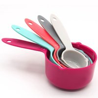5Pcs Colorful Plastic Measuring Spoons Measure Utensil Household Cooking Aceessories Tools