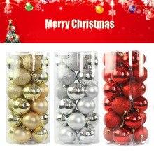 24 шт Рождественская елка украшения 40 мм Рождественская елка шар-безделушка подвесное украшение для домашней вечеринки декор украшения для дома