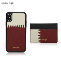 Horologii Personalized Custom Name for Card Holder Iphone 11 Pro Max X XS case Qatar Flag luxury product gift package dropship