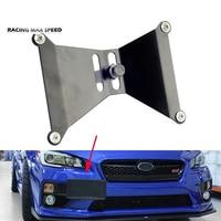 Crochet de remorquage de pare-chocs avant support de fixation de plaque d'immatriculation plaque d'immatriculation de voiture réglable en aluminium pour Subaru WRX & STi 15-17