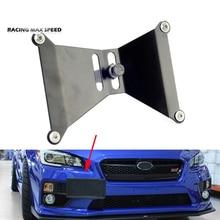 Soporte de soporte de montaje de placa de gancho de remolque delantero placa de licencia de coche ajustable de aluminio para 15 17 Subaru WRX y STi