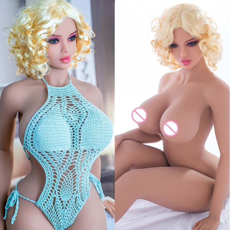 161CM-100# Flesh Color Skin Top Quality Beautiful Sexy Woman Sex Robot Full TPE With Metal Skeleton Sex Doll Men's Sex Toy