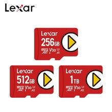 Lexar-tarjeta de memoria 100%, dispositivo de memoria Original de 1TB, 512GB, A2, V30, velocidad de lectura de hasta 150 MB/S, Clase 10, Micro SD, 256GB, A1, UHS-I, U3, TF