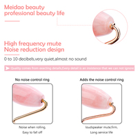 Rose Quartz Jade Roller Gua Sha Face Roller Facial Beauty Roller Skin Care Tools Mute Roller Massager for Eyes Neck Body Muscle 4