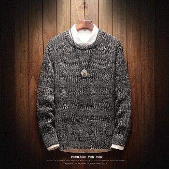 Мужской винтажный свитер, повседневный трикотажный пуловер в стиле кэжуал, для осени, 2019