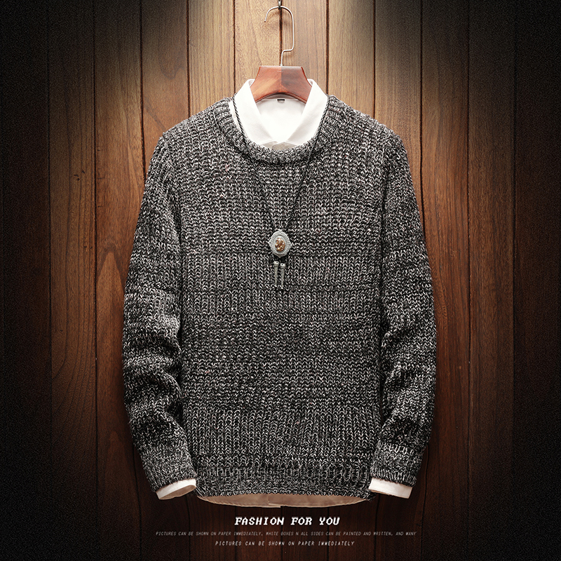 Sweater Male Fashion Vintage New Style Mens Sweaters And Pullovers Casual 2019 New Autumn Sweater M-5XL Pullover Knitted