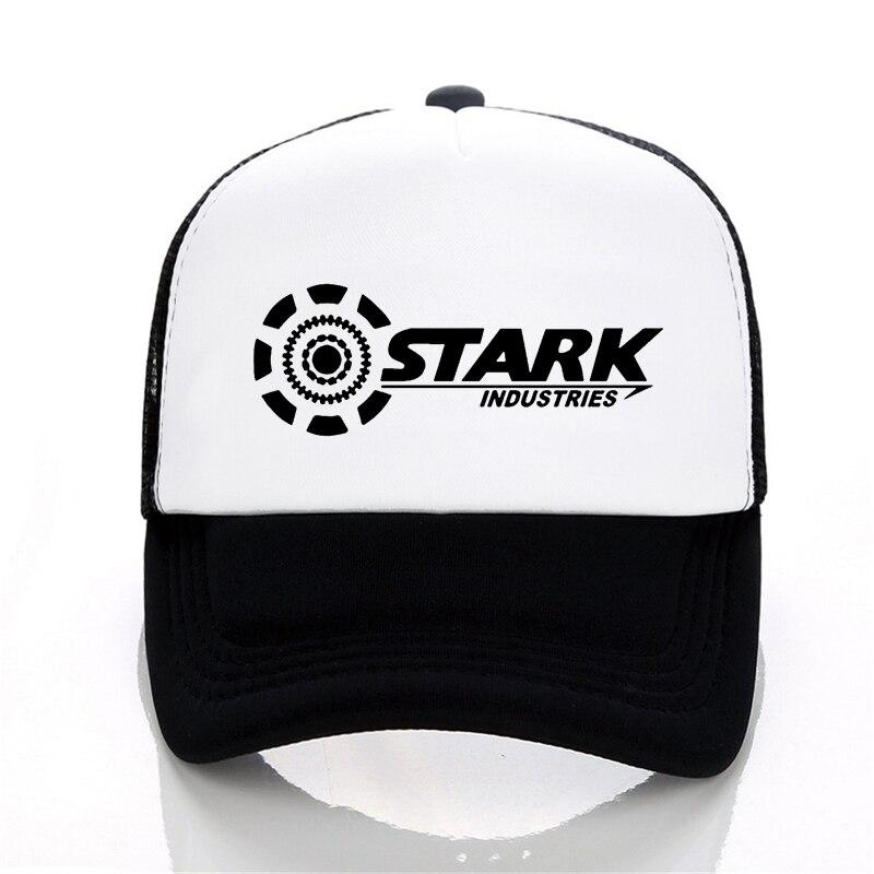 STARK INDUSTRIES TONY IRON Man Baseball Cap Summer Brand Cotton Mesh Cool Cap Fitness Casual Unisex adjustable Snapback Hat
