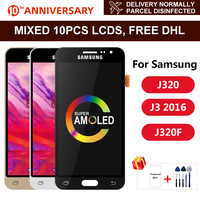J320 Super AMOLED Für Samsung Galaxy J3 2016 Display J320 J320F J320M J320Y LCD Touch Screen Digitizer Display Montage Teile