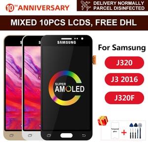 J320 Super AMOLED For Samsung Galaxy J3 2016 Display J320 J320F J320M J320Y LCD Touch Screen Digitizer Display Assembly Parts