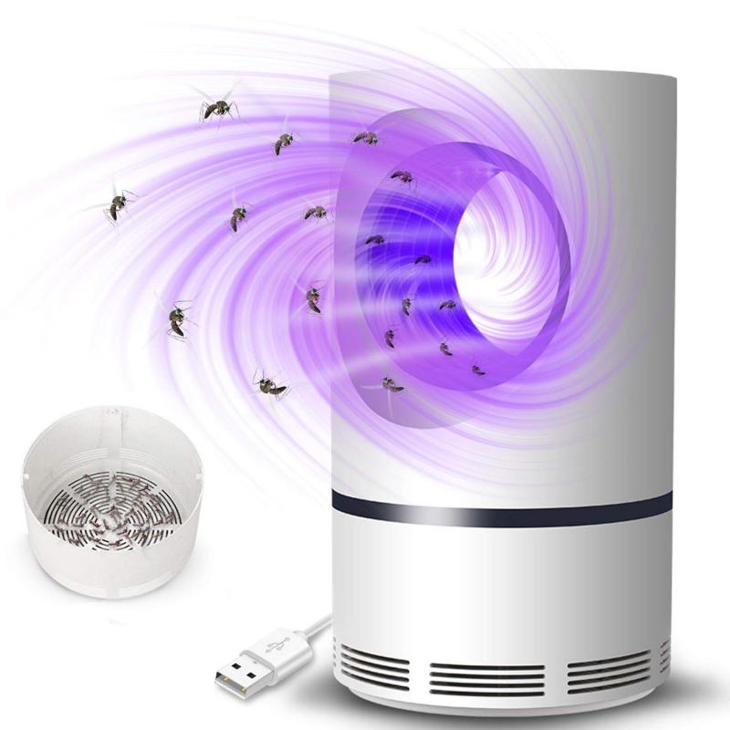 Electric LED Mosquito Killer Lamp 5W No Radiation UV Pest Mosquito Zapper Professional Suction Pest Control Lamp USB Charging