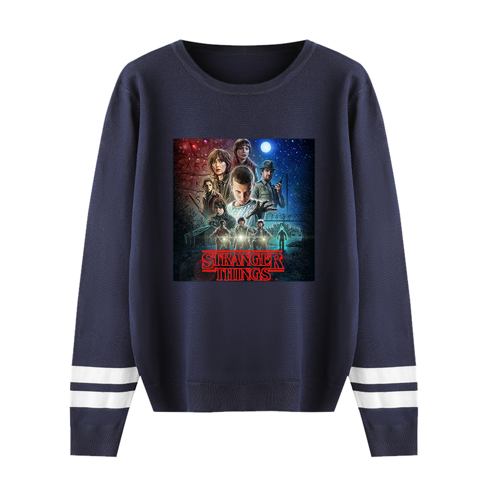 Stranger Things Capless Hoody Men/women Autumn Winter Hot New Fashion Print Long Sleeve Warm Casual Knitted Casual Sweater Tops