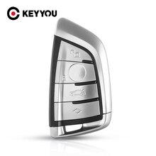 KEYYOU מרחוק מפתח Shell Case FOB עבור BMW X5 F15 X6 F16 G30 7 סדרת G11 X1 F48 F39 4 כפתורי אביזרי רכב סטיילינג