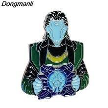 Dz45 loki figuras metal esmalte pinos distintivo broche mochila saco colar lapela jóias