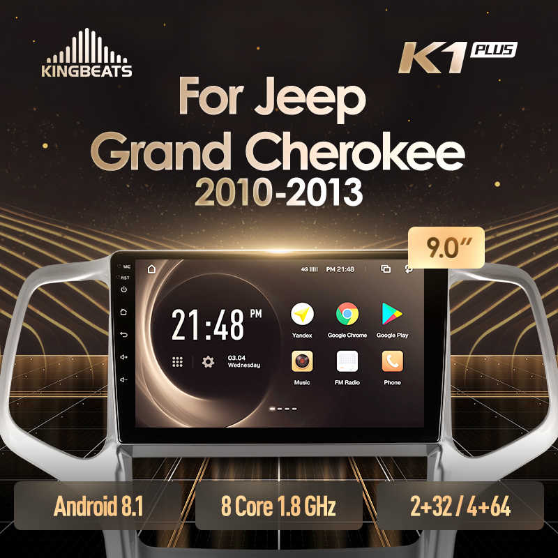 KingBeats unità di testa Android 4G in Dash Car Radio Multimedia Video Player di Navigazione GPS Per Jeep Grand Cherokee WK2 2010-2013
