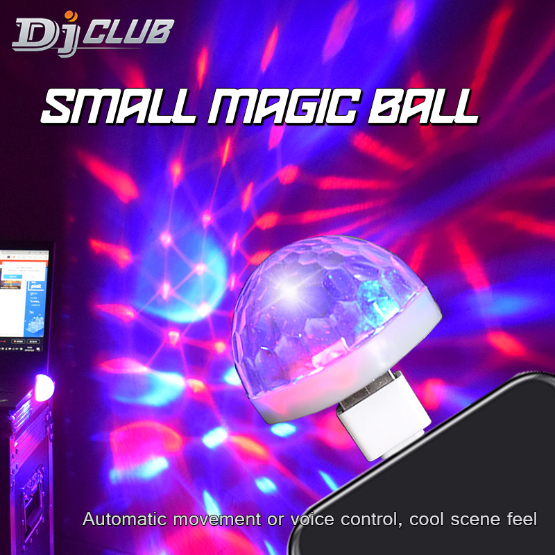 DJ Ball DJ Lighting Mini Usb Magic Ball With 3colors Disco Light Arrive At Voice Control For Home Party Light