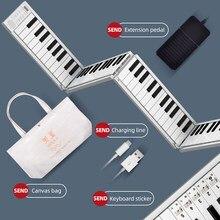 Midiplus-بيانو محمول قابل للطي مع 88 مفتاحًا ، لوحة مفاتيح ، حامل ، مخرج سماعة رأس ، ملفوفة يدويًا ، للطلاب المبتدئين