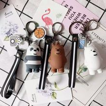 2019 Cartoonkey chain Anime We Bare Bears Cute Three Keychains Men Keyring Women Car Bag Trinkets Or Girl Key Chain