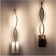 16 ワット led ウォールランプ波ベッドルームのサイド壁ランプ家の装飾照明廊下アルミ壁ランプ AC90 260V