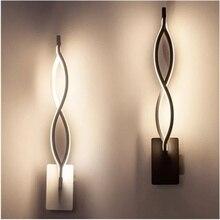 16W led duvar lambası dalga yatak odası yan duvar lambası ev iç dekorasyon ışıklandırma koridor alüminyum duvar lambası AC90 260V