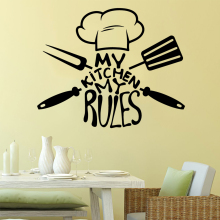 Diy My kitchen my rules Vinyl Self Adhesive Wallpaper For Kids Rooms Home Decor Wall Art Sticker Murals