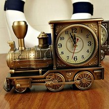 Yooap creative antique locomotive alarm clock Boutique retro decoration gift student
