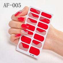 14 наконечников/Лист Модный цветной стикер для ногтей Французский