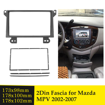 2 Din Car Radio Fascia for Mazda MPV 2002-2007 Stereo Audio Refitting Mounting Trim Panel Plate CD DVD Player Installation Bezel image