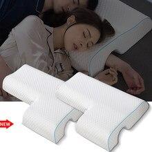 Travesseiro para cama qczx, travesseiro ergonômico para recuperação lenta de pressão, saúde, pescoço, casal, travesseiro multifuncional e anti-pressão