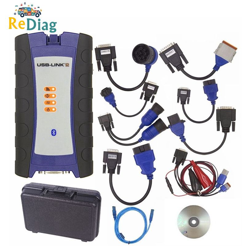 NEXIQed 2 125032 USB Link Truck Diagnose NEXIQed USB Link With All Installers Nexiqed2 USB/Bluetooth Optional Heavy Duty Scanner