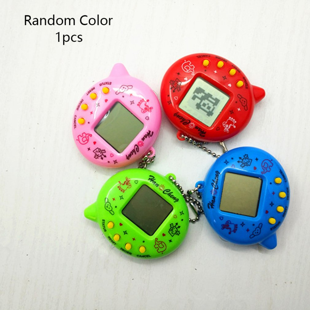 Mini Electric Intelligence Developmental Electronic Game Machine Virtual Pet Egg Shaped Video Game Console