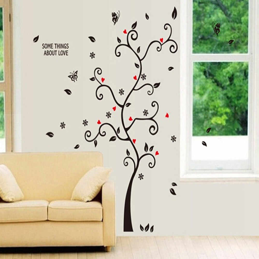 25 # Diy の家族の写真フレーム木の壁のステッカーリビングルーム寝室の壁のステッカーポスター壁紙家の装飾