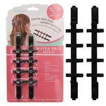 Women Fashion Waterfall Braid Creator Plastic Styling Tools Black Hair