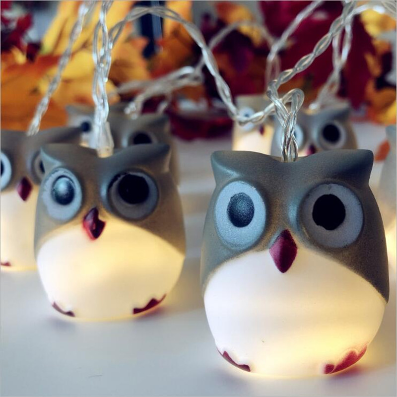 Creative Owl Animal Led Light String For Holiday Party Christmas Day Decor 1.65M 10 LEDS Night Light String 1918