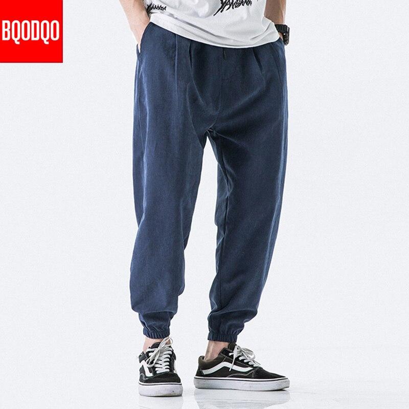 Khaki Autumn Brand Casual Harem Pants Men Hip Hop Cotton Army Joggers Baggy Trouser Japanese Streetwear Harajuk Knit Sweatpants