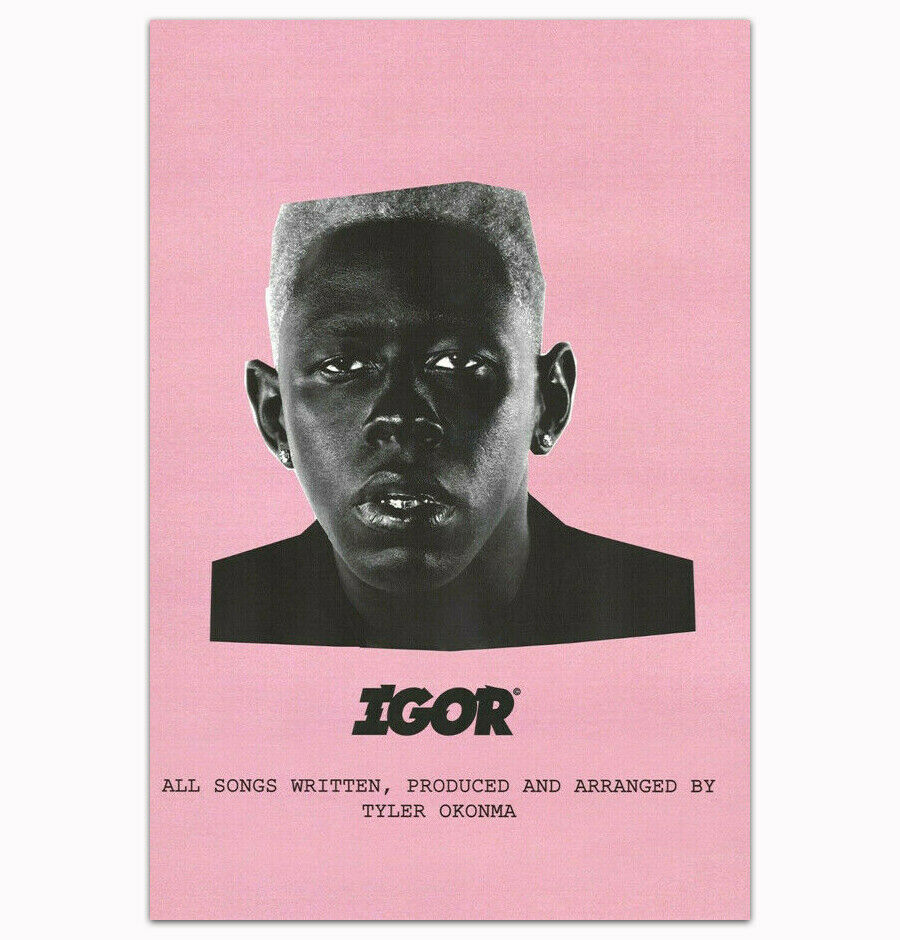 Tyler The Creator Igor 2019 Rap Music Album Star Silk Fabric Wall Poster Art Decor Sticker Bright image