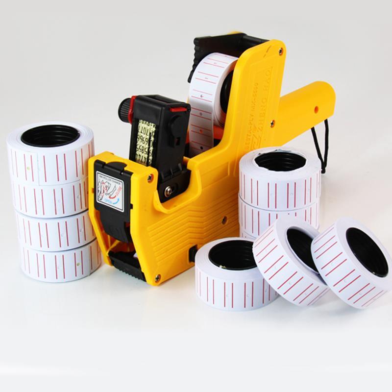 Gun Case Paper MX-5500 Price Labels Glue Sticks Bulk White Boxes For White Box Price Tags 10 Rolls Label Sticker Labels