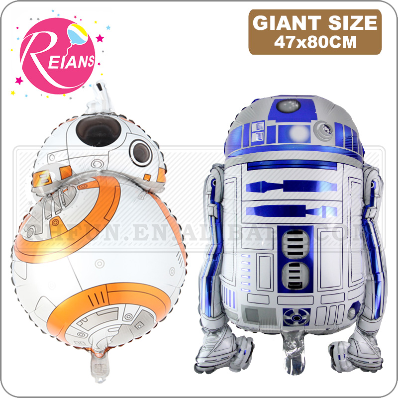 Movie super hero Cartoon balloons globos star wars BB8 R2D2 foil balloons Birthday party foil balloon decoration inflatable toy image