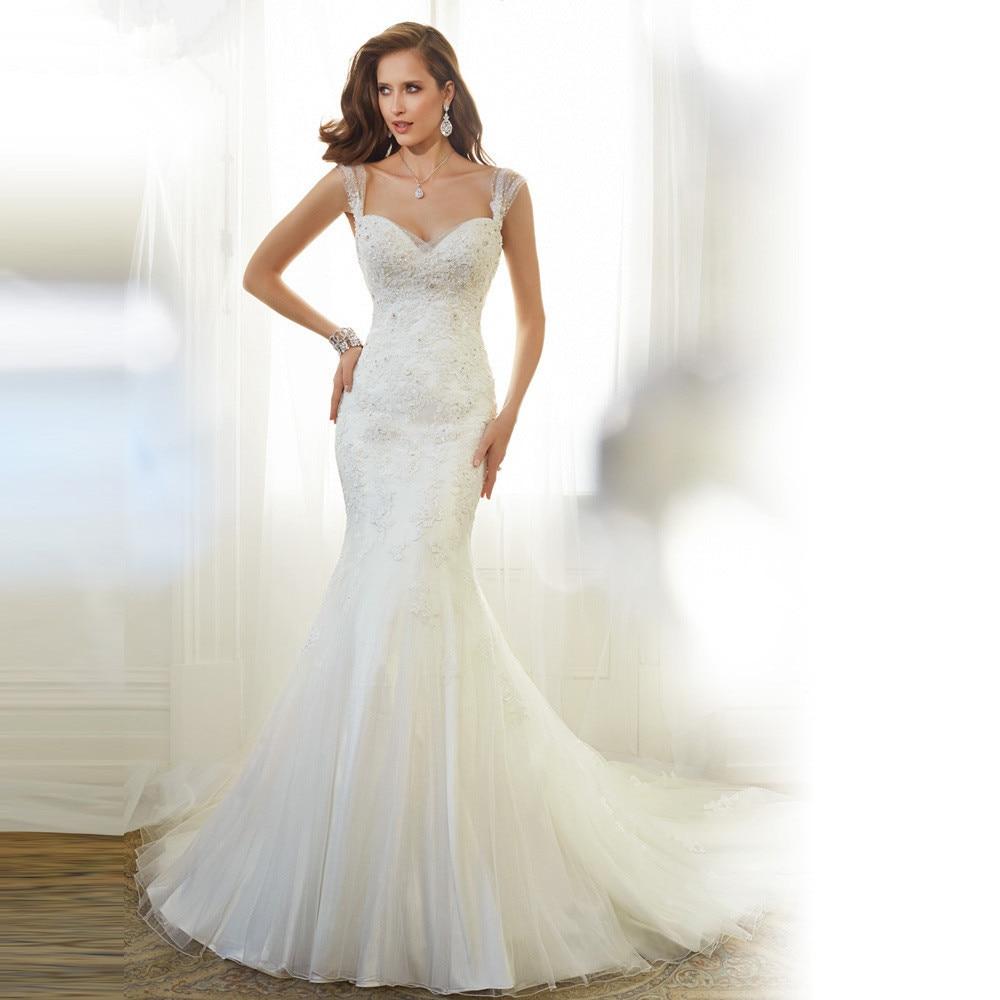 Amazing Lace Vestido De Noiva Sweetheart Sleeveless Sexy Backless Beaded Mermaid Vintage Wedding Dress 2015 Bridal Gowns MD73