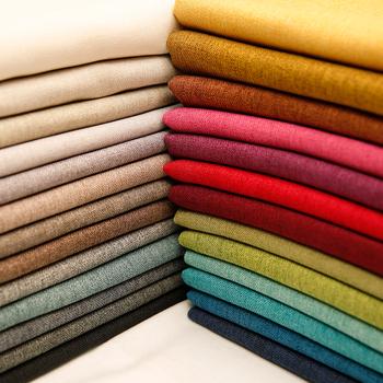 Tkanina lniana materiał zaciemniający na zasłonę obrus poliestrowy tkanina do szycia DIY na metr 50*150cm tanie i dobre opinie wyszywana CN (pochodzenie) Przyjazne dla środowiska Płótno tkaniny Inna tkanina polyester linen BARWIONE Bez wzorków