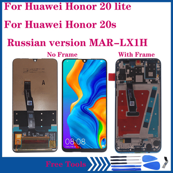 6.15 Original LCD For Huawei Honor 20 lite LCD display Touch Screen Digitizer Assembly for honor 20s MAR-LX1H LCD Repair parts for myphone hammer energy lcd display touch screen original lcd glass digitizer assembly repair parts
