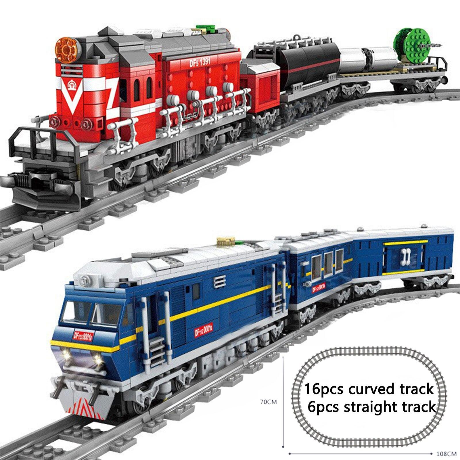 新kazi市トレイン動力駆動ディーゼルレール列車と貨物トラックセットモデルテクニック互換すべてブランド
