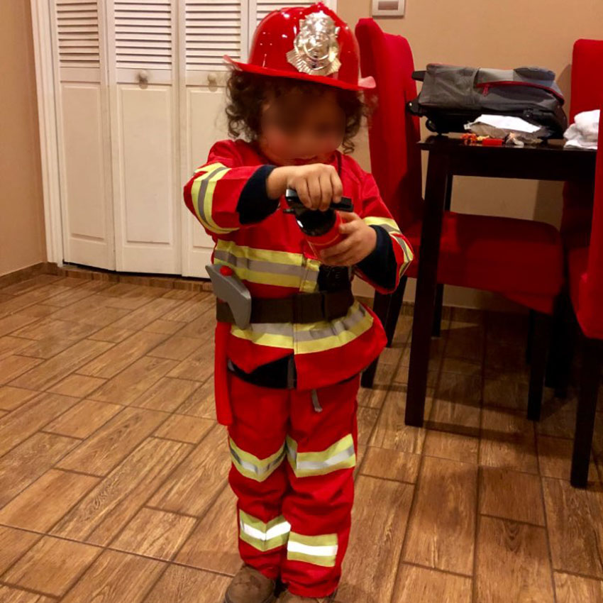 Kids Christmas Halloween Cosplay Costumes Fireman Fireghter Uniform Boys Army Suit Carnival Party Luxury Fancy Gift With Toys