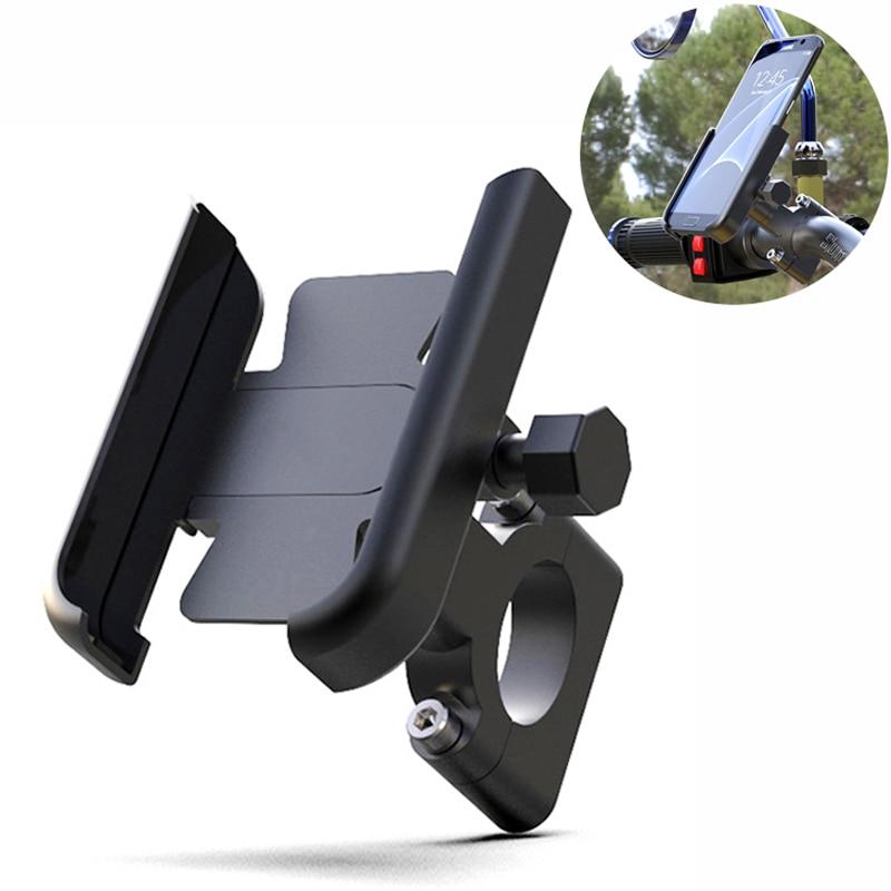 Alliage daluminium moto vélo vélo support pour téléphone pour 4-7 pouces Smartphone GPS 20-30mm guidon montage moto accessoires